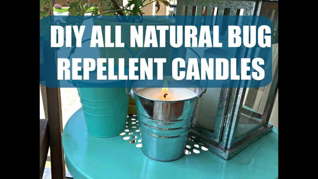 DIY Bug Repellent Candles