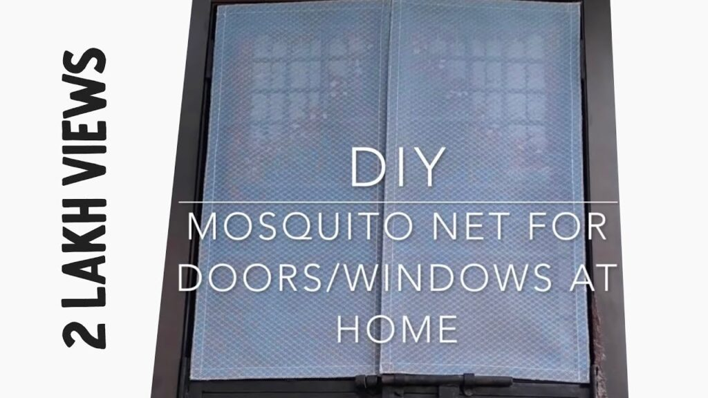 DIY | Removable Mosquito Net Using Velcro At Home | For Doors & Windows | Super Eas