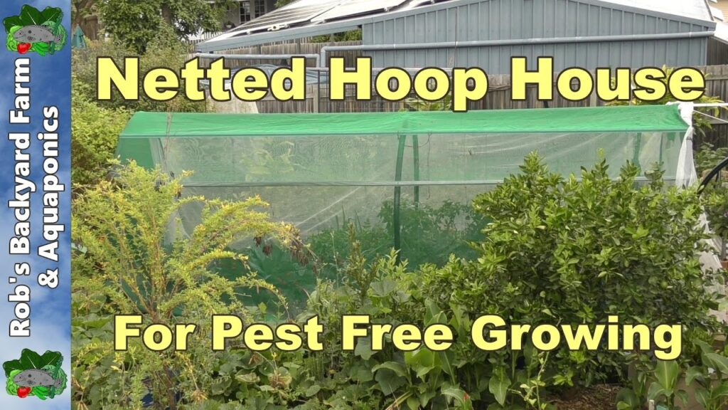 Insect Netting Hoop House For Fruit Fly & Cabbage Butterflies